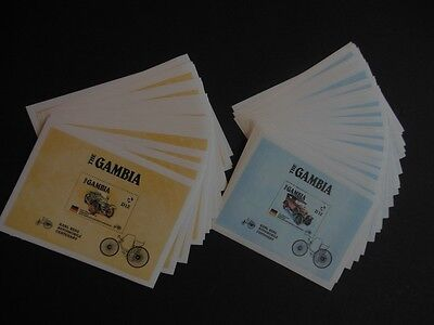 GAMBIA : 1986. Scott #628-29 Autos. 25 S/S of each. VF, Mint NH. Catalog $412.00