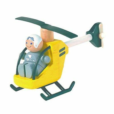 PlanToys Wooden Toy Helicopter with Pilot - PlanToys