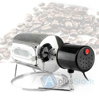 NEW Electric Stainless Steel Home Kitchen Coffee Roaster Machine Tool