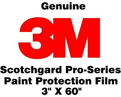 "3M Scotchgard Pro Series Paint Protection Film Clear Bra Bulk Roll 3"" x 60"""