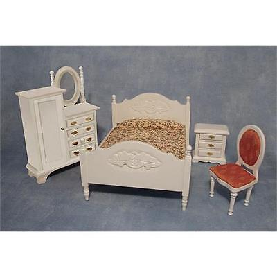 Dolls House 12th Scale White Bedroom Set DF1537