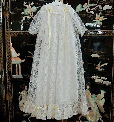 Lace Christening Gown ~ Designed For Baby Dolls ~ Stunning!!!