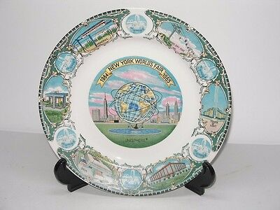 1964-65 New York World's Fair Unisphere Collectible Porcelain Plate
