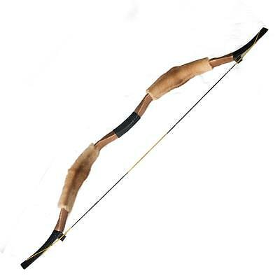 New Handmade 50Lb Archery Recurve Bow Hunting Longbow Leather  Mongolia Horsebow