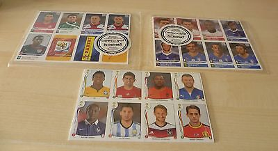 Panini World Cup stickers 2010 + 2014 Extra Update sticker sets sealed