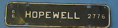 1966 Hopewell license plate from Virginia