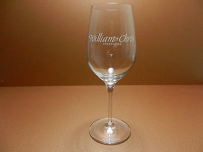 William Chris Vineyards Stemmed Crystal Wine Glass Hye Texas Hill Country Winery