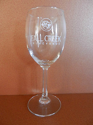 Fall Creek Vineyards Stemmed Winery Glass Texas Hill Country Tow Texas