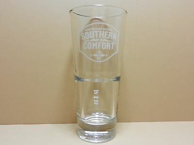 Southern Comfort Liqueur Tall Cocktail Glass 4cl & 2cl Line Marks High Quality