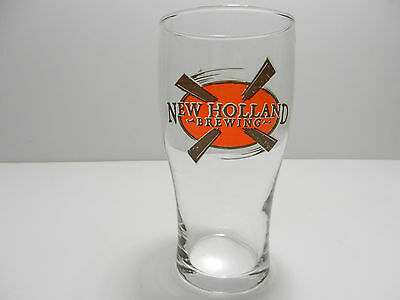 New Holland Brewing Company Pint Beer Glass Holland, Michigan