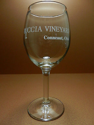 Buccia Vineyard Stemmed Wine Glass Conneaut Ohio Winery