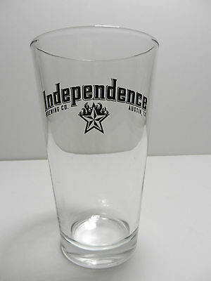 Independence Brewing Company Pint Beer Glass Austin, Texas