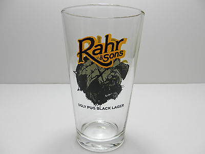 Rahr & Sons Ugly Pug Schwarzbier Black Lager Pint Beer Glass Ft. Worth Texas