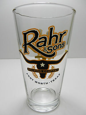 Rahr & Sons Brewing Company Pint Beer Glass Craft Brewery Fort Worth Texas