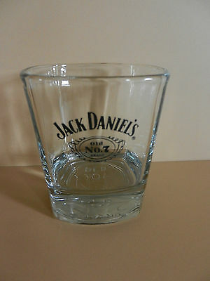 Single Jack Daniel's Old No. 7 Brand Tennessee Whiskey Glass  Embossed