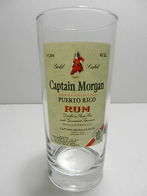 Captain Morgan Gold Label Puerto Rican Spiced Rum Cocktail Glass