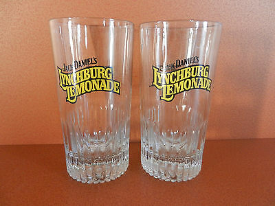 Pair of Jack Daniel's Lynchburg Lemonade Cocktail Glasses Set of 2