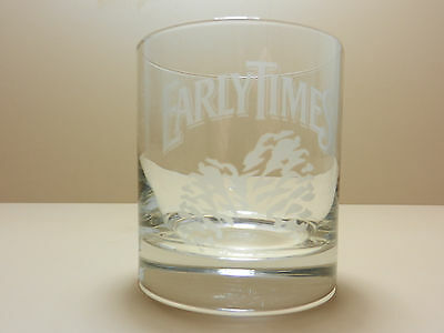 Early Times Kentucky Straight Bourbon Whiskey Etched Glass