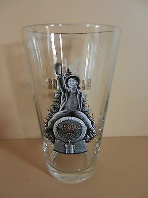 Rahr & Sons Brewing Company Christmas 2012 Pint Beer Glass Fort Worth, Texas