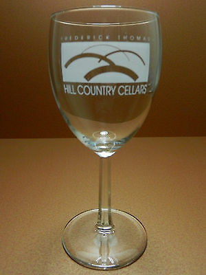 Hill Country Cellars Stemmed Wine Glass Texas Winery