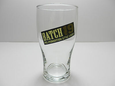 Coors Brewing Company Batch 19 Pre-Prohibition Style Lager Beer Glass NEW