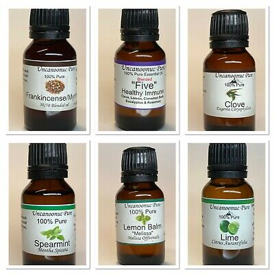 100% Pure Essential Oils 15ml  Buy 3 get 1 Free Therapeutic Grade