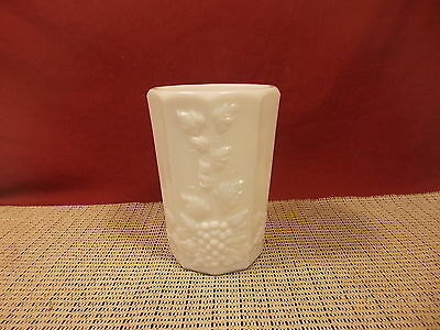 "Vintage Westmoreland Crystal Paneled Grape Milk Glass Tumbler 4 3/8"" T x 3"" W"