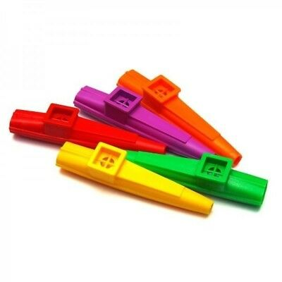 5 X Scottys Plastic Kazoo *NEW* Kids Musical Instrument Mixed Colours