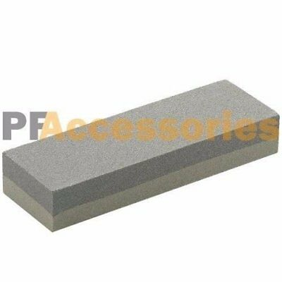 "6"" Aluminum Oxide Sharpening Stone Dual Grit Hone Knife Blade Sharpener Fishing"