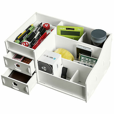 WPC Desk Storage Box Organizer Pencil Holder Stationary Office Collection Drawer