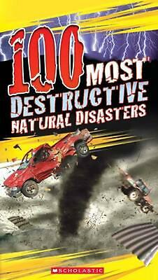100 Most Destructive Natural Disasters by Anna Claybourne Paperback Book Free Sh