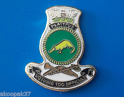 Hmas Platypus Submarine Base Lapel Badge Enamel With Gold Plating 20Mm High Ran