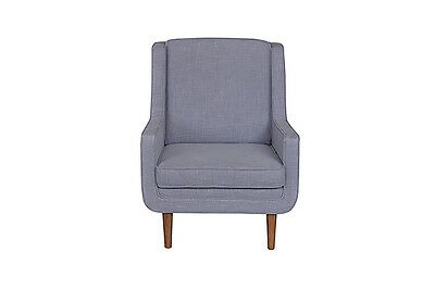 Contemporary Stylish Linen Moss Occasional Armchair in Nova Cloud .  New. 1 LEFT