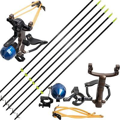 Archery Powerful Hunting Fishing Folding Slingshot Catapult & 6P Fishing Arrows