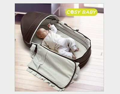 Safe Toddler BABY Convertible Tote Bag Bed Infant Carry Cot Diaper Nursery
