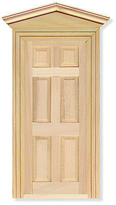 12th Scale Wooden Front Door For Dolls House Miniatures DIY002