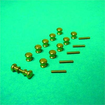Twelve Door Knobs & Six Threads 1:12 Scale for Dolls House Doors