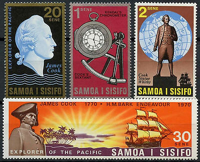 Samoa 1970 SG#349-352 Cook's Exploration Of The Pacific MNH Set #D9407