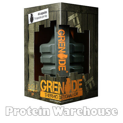 Grenade Thermo Detonator 44 Caps Weight Loss Fat Slimming Thermogenic Diet Pills