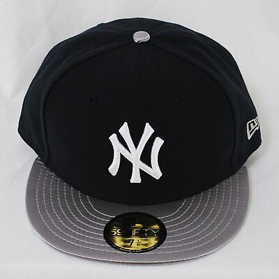 New Era NY Yankees Team Class Up Silver Peak 59fifty Fitted 5950 Hat Cap