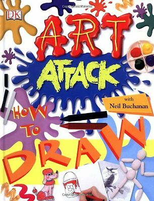 Art Attack How to Draw, Dk Hardback Book The Cheap Fast Free Post