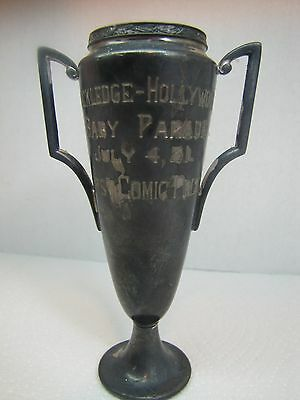 Antique 1931 BABY PARADE TROPHY Award Rockledge-Hollywood First Prize July 4 '31
