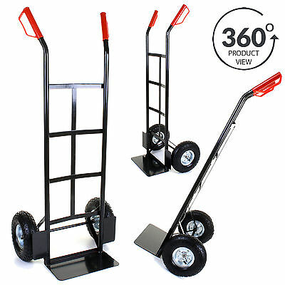 Sack Truck Heavy Duty Black Metal 200KG Dolly Barrow Hand Cart Warehouse Trolley