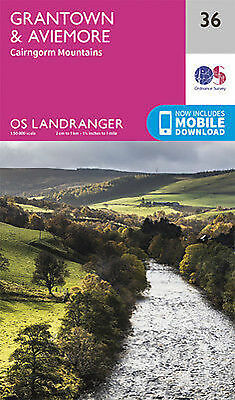 Grantown Aviemore Cairngorm Mountains Landranger Map 36 Ordnance Survey 2016