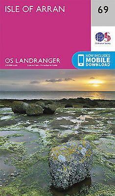 Isle of Arran Landranger Map 69 Ordnance Survey Latest