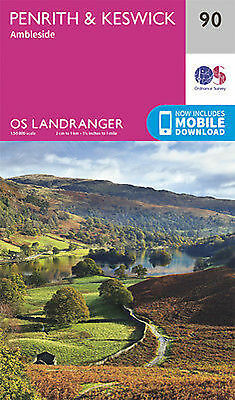 Penrith & Keswick Ambleside Landranger Map 90 Ordnance Survey 2016