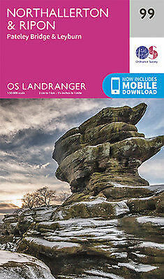 Northallerton Ripon Pateley Bridge Landranger Map 99 Ordnance Survey 2016