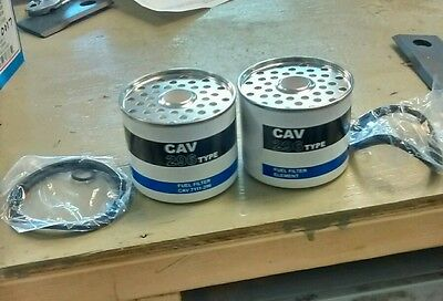 "CAV 7111/296 2 Pack TRACTOR FUEL FILTERS FITS MANY MODELS ""FREE SHIPPING"""