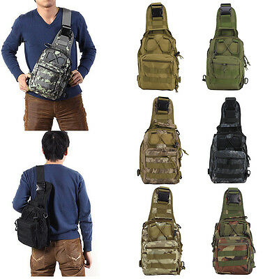 New Molle Tactical Chest Bag Combo Messenger Shoulder Daysacks Backpack Pouches