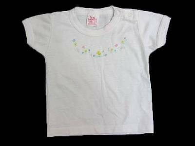 childrens vintage t shirt top vest new 60's Easter chick flowers spring logo 6-9